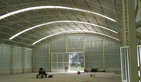estrutura metálica barracão